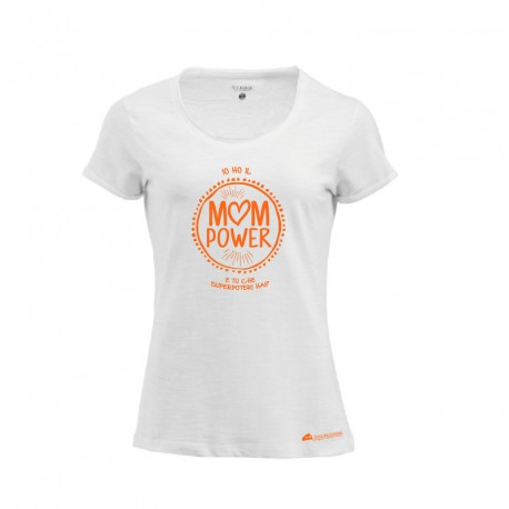 La t-shirt bianca Mom Power